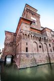 The Castello Estense in Ferrara in Italy royalty free stock photos