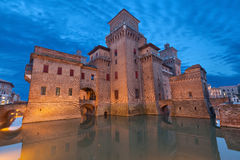 Castello Estense In The Evening, Ferrara Stock Image