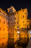 Castello Estense, a moated medieval castle Royalty Free Stock Image