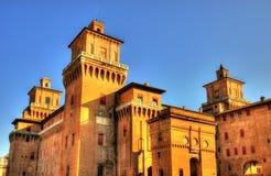 Castello Estense ou castello di San Michele em Ferrara Imagens de Stock