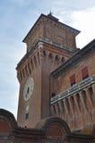Castello Estense torn i Ferrara arkivfoton