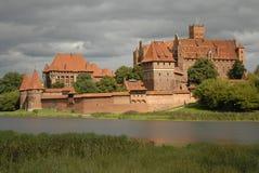 Castello evidenziato di Malbork Fotografia Stock