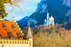 Castello famoso del Neuschwanstein del punto di riferimento della Baviera in Germania Immagine Stock