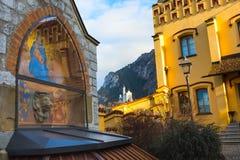 Castello famoso del Neuschwanstein del punto di riferimento della Baviera in Germania Fotografie Stock