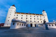 Castello famoso di Bratislava Fotografie Stock Libere da Diritti