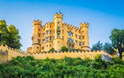 Castello famoso di Hohenschwangau vicino a Fussen, Baviera, Germania Fotografie Stock Libere da Diritti
