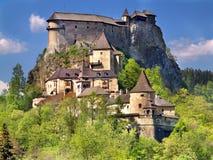 Castello famoso di Orava, Slovacchia Fotografie Stock