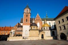 Castello famoso di Wawel del punto di riferimento Fotografia Stock Libera da Diritti