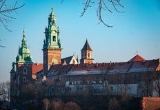 Castello famoso di Wawel del punto di riferimento fotografie stock libere da diritti