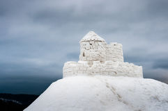 Castello fatto da ghiaccio Immagine Stock