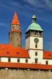 Castello favoloso di Bouzov in repubblica Ceca fotografia stock libera da diritti