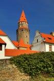 Castello favoloso di Bouzov in repubblica Ceca fotografia stock
