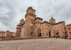 Castello Ferrara Italia immagine stock libera da diritti