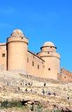 Castello frequentante visualizzante di Calahorra, Spagna Immagini Stock