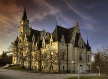 Castello frequentato immagine stock