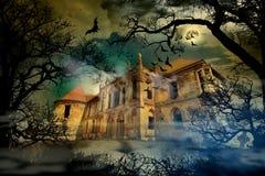 Castello frequentato Fotografie Stock