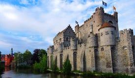 Castello a Gand, Belgio Fotografia Stock