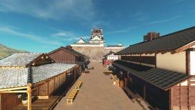 Castello giapponese illustrazione di stock
