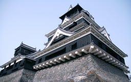 Castello giapponese in Kumamoto Fotografia Stock