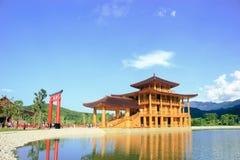 Castello giapponese nella terra di Hinoki fotografia stock libera da diritti
