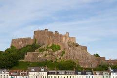 Castello in Gorey, Jersey, Regno Unito di Mont Orgueil Immagini Stock Libere da Diritti