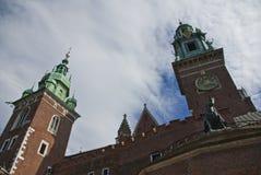 Castello gotico reale di Wawel, Cracovia Fotografia Stock