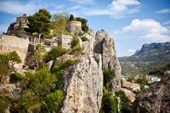 Castello a Guadalest fotografie stock