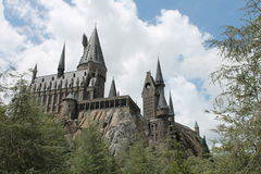 Castello Harry Potter Universal Studio di Hogwarts immagine stock libera da diritti