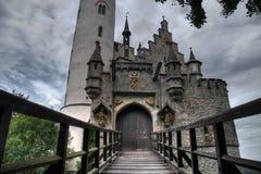 Castello HDR del Lichtenstein Fotografie Stock Libere da Diritti