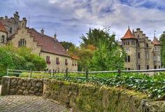 Castello HDR del Lichtenstein Immagine Stock Libera da Diritti