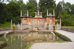 Castello Hellbrunn vicino a Salisburgo (Austria) Immagini Stock