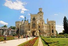 Castello Hluboka nad Vltavou Fotografie Stock