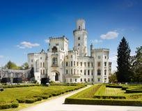 Castello Hluboka, punto di riferimento, favola, attrazione immagine stock libera da diritti