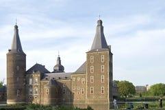 Castello Hoensbroek, Limburgo, Paesi Bassi dell'acqua Fotografia Stock Libera da Diritti