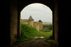 Castello Hotyn Ucraina Immagine Stock