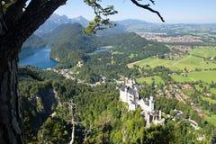 Castello il Neuschwanstein e hohenschwangau Immagini Stock Libere da Diritti