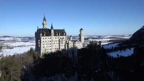 Castello il Neuschwanstein nelle prime ore del mattino archivi video
