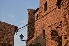 Castello interno di Tossa de Mar Immagine Stock