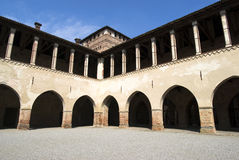 Castello interno Pandino, Italia immagini stock libere da diritti
