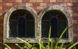 Castello invecchiato Windows Immagini Stock Libere da Diritti