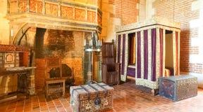 Castello la Chaumont-s-Loira, interna fotografia stock