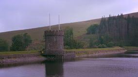 Castello, lago e montagna Fotografia Stock