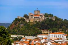 Castello Leiria - nel Portogallo Fotografie Stock Libere da Diritti