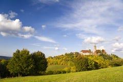 Castello Leuchtenburg all'autunno fotografia stock libera da diritti