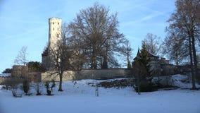 Castello Lichtenstein, Germania stock footage