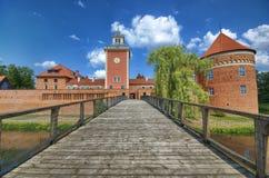 Castello in Lidzbark Warminski immagini stock libere da diritti