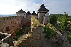 Castello Lipnice nad Sazavou Fotografia Stock Libera da Diritti