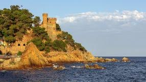 Castello a Lloret De marzo, Costa Brava, Spagna Fotografia Stock