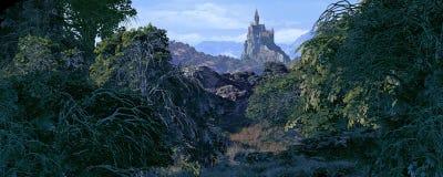 Castello lontano Fotografia Stock