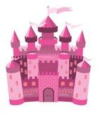 Castello magico rosa di fiaba Immagine Stock